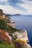 希腊南部mani的半岛 免版税库存照片