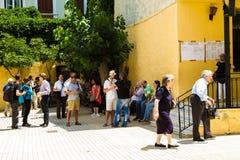 希腊危机,公民投票表决 免版税库存图片