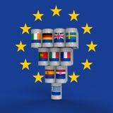 希腊和EU 库存例证