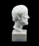 希腊哲学家亚里斯多德雕塑 免版税图库摄影