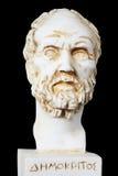 希腊哲学家德谟克利特的白色大理石胸象 免版税库存照片