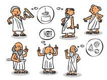 希腊哲学家 皇族释放例证