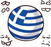 希腊国家球 库存例证