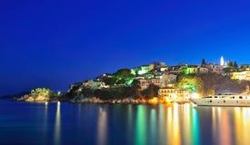 希腊图象海岛晚上skiathos 免版税库存图片