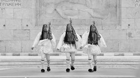 希腊在结构体正方形的evzones传统仪式 影视素材