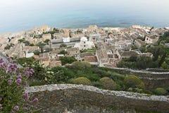 希腊城堡镇 库存照片