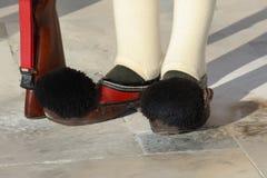 希腊士兵全国鞋子  免版税库存图片