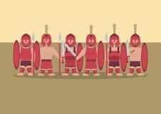 希腊士兵平的图表 免版税库存照片