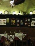 希腊处所的老餐馆在维也纳 免版税库存图片