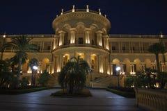 希腊大厦nightscene 免版税图库摄影