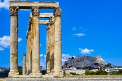 希腊奥林匹亚寺庙宙斯 免版税库存图片