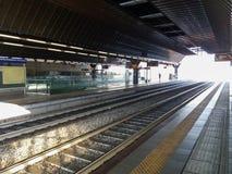 希腊字母的第17字Fiera火车站 库存照片