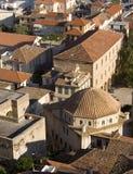 希腊安置nafplio屋顶 免版税库存照片