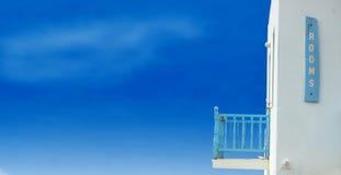 希腊家庭海岛假期 库存照片