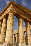 希腊寺庙在古城Segesta,西西里岛 免版税图库摄影