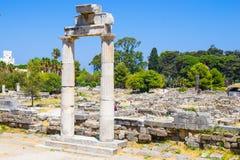 希腊寺庙废墟 图库摄影