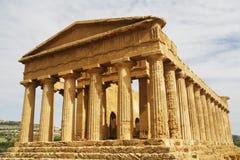希腊寺庙 免版税库存照片