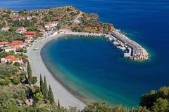 希腊小的口岸 库存照片