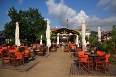 希腊小酒馆 图库摄影