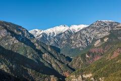 希腊山奥林匹斯山 库存图片