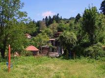 希腊山村 库存图片