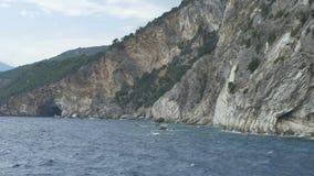 希腊岩石海岸 股票视频