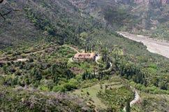 希腊希腊修道院taxiarches 免版税库存图片