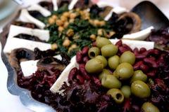 希腊开胃菜板材 免版税库存图片