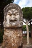 希腊意大利屏蔽罗马剧院 免版税库存图片