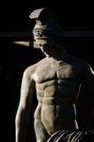 希腊或罗马战士的雕象 库存照片