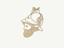 希腊战争之神商标 库存照片