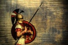 希腊战士背景 免版税库存图片