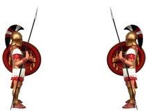 希腊战士 库存照片