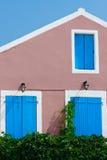 希腊房子传统村庄 库存照片
