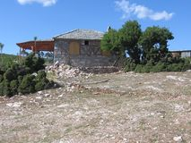 希腊房子传统thassos的theologos 库存图片