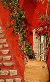 希腊房子海岛专用santorini围场 免版税图库摄影