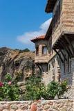 希腊房子门面 免版税库存图片