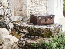 希腊手提箱 图库摄影