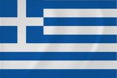 希腊挥动的旗子 库存图片