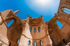希腊教会的圣乔治的中世纪废墟 法马古斯塔,塞浦路斯 库存图片