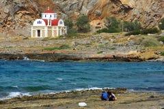 希腊教会 免版税图库摄影