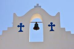 希腊教堂钟细节 免版税库存图片