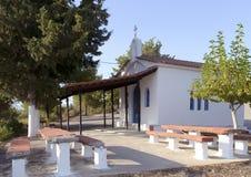 希腊教堂 免版税库存照片