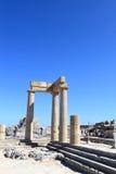希腊文化的stoa横向  免版税库存图片