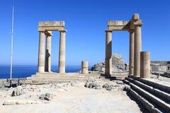 希腊文化的stoa 免版税库存照片