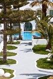 希腊旅馆海岛豪华santorini 免版税库存照片