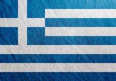 希腊旗子葡萄酒,减速火箭,被抓, 免版税库存照片
