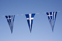 希腊旗子 免版税库存图片