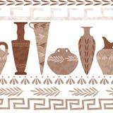希腊无缝的样式 库存照片