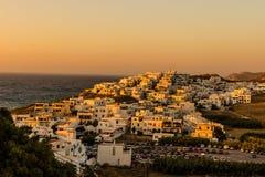 希腊日落 免版税库存照片